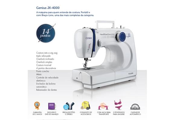 926775 - Elgin M�quina de Costura Genius JX-4000 220V