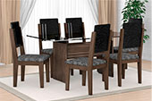 974875 - Mesa Esmeralda 6 Cadeiras RV M�veis