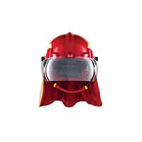 HF09204NO - Capacete Bombeiro Hercules Termoplastico Vermelho
