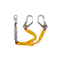 HL03259YE - Talabarte Y Cadarco Tubular Amarelo C/Elast C/Abs Mosq 53mm