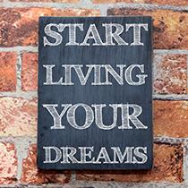 Quadro Start Living Your Dreams Grande - Caixar-Te