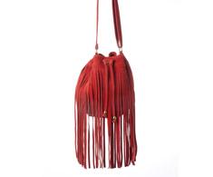 Feminina Transversal Vermelho Franjas 120008