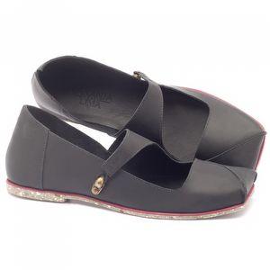 Sapato Fechado Estilo Boho-Chic boneca em couro preto - Código - 145007