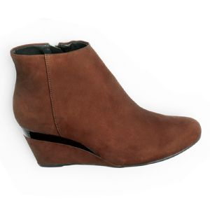 Bota Cano Curto Chocolate Lisa 101010