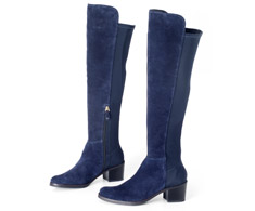 Bota Cano longo Azul Marinho Over The Knee 107254