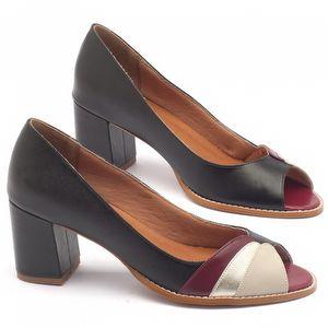 Peep Toe Salto Medio de 6cm - Código - 3505