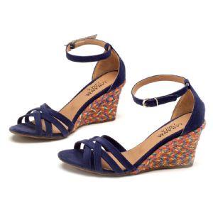 Sandálias em CORDA Top Azul Marinho Tiras 9340