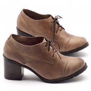 Sapato Retro Estilo Boho-Chic em couro marrom - Código - 137042