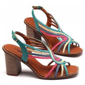 Sandália Salto Alto de 9cm colorida 3465