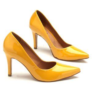 Scarpin Chiquérrimo Salto Alto de 9 cm amarelo 9347