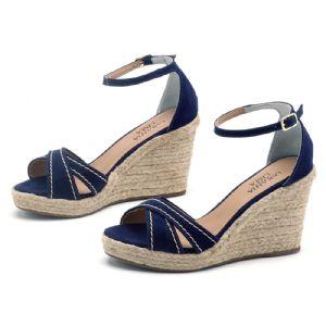 Sandálias em CORDA Top Azul Marinho X 9334
