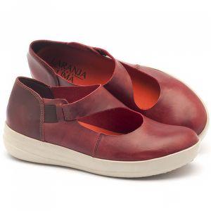Tênis Cano Baixo em couro vermelho - Código - 137112
