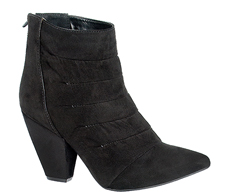 Botas Ankle boot preto plissada na frente 104002