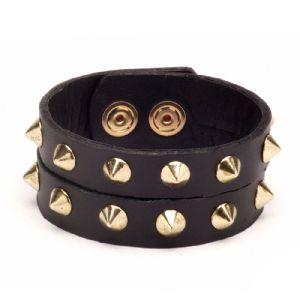 Feminino - Braceletes Preto Spikes 134008