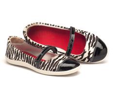 Sapatilha Bico Fechado Zebra Presilha peito p� 99025