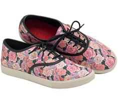 T�nis Cano Baixo Estampado Estampa floral 99021