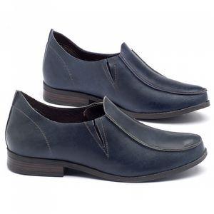 Sapato Retro Estilo Boho-Chic em couro azul - Código - 137093