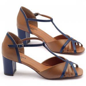 Sandália Salto médio de 6cm - Código - 3431