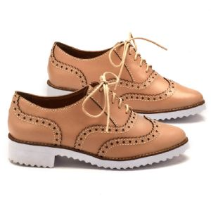 Oxford Flat Nude em couro 3419