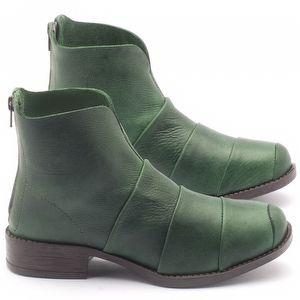 Bota Cano Curto em couro verde - Código - 141001