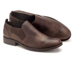 Sapato Masc Casual Marrom El�stico 122009