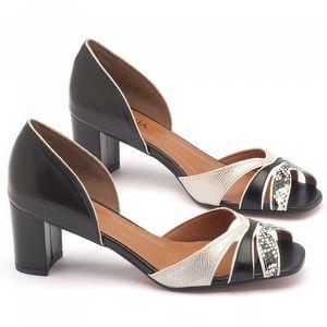 Sandália Salto médio de 6cm - Código - 3379