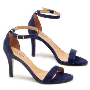 Sandália Salto Medio azul marinho  9361