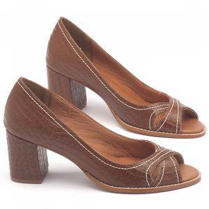 Peep Toe Salto Medio de 6cm - Código - 3506