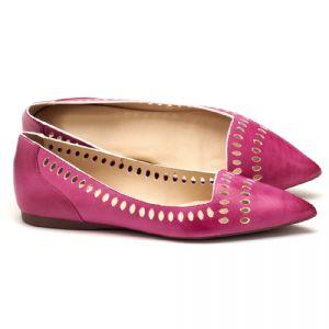 Sapatilha Bico Fino pink estonado  107377