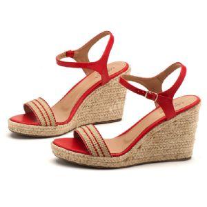 Sandálias em CORDA Top com salto de 9cm atras e 2cm na frente em corda 9355
