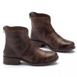 Bota Cano Curto em couro marrom marrom 141001