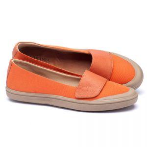 Tênis Cano Baixo em lona laranjal 56100