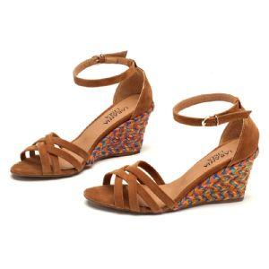 Sandálias em CORDA Top Caramelo Tiras 9340