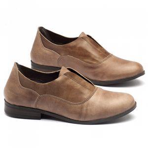 Sapato Retro Estilo Boho-Chic em couro bege - Código - 137091