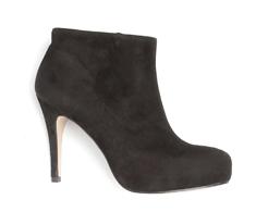 Bota Ankle Boot Preta Lisa 101009
