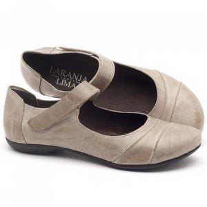 Sapatilha Bico Fechado em couro cinza - Código - 148002