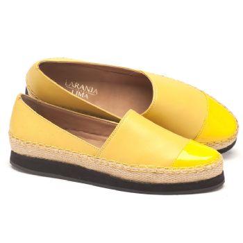 Alpargata Flat amarela em couro 56083