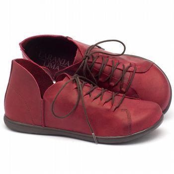 Tênis Cano Baixo em couro vermelho 137033