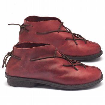 Bota Cano Curto em couro vermelho - Código - 136057