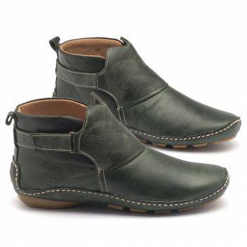 Bota Cano Curto em couro verde - Código - 136031