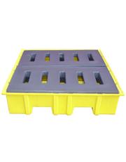 Pallet para Contenção de Vazamento - Para 4 Tambores