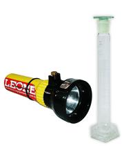 Combo Proveta para Análise de Combustível 100 ml com RBC 4 Pontos + Lanterna Antiexplosão PLT Certificada pelo Inmetro