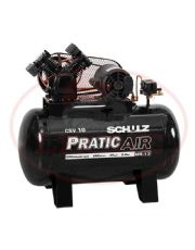 Compressor de Ar Monofásico - 120 psi - 10 PCM - 100 Lts - PRATIC AIR - Schulz