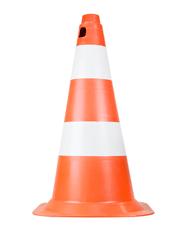 Cone Sinalizador Flexível de 75cm Laranja e Branco