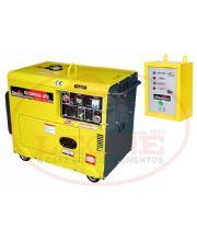 Gerador de Energia à Diesel - Com ATS - 6 KVA - Cabinado - 110/220V Mono - TD7000SGE-ATS