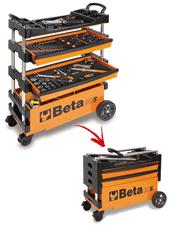 Carro com Jogo de 61 Ferramentas Para Uso Geral - C27S - Beta