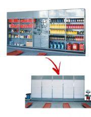 Estantes Modulares com Postas PVC Retráteis