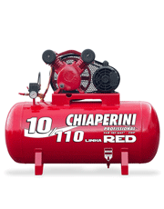 Compressor de Ar 2 HP Monofásico - 140 psi - 10 pcm - 110 litros - RED-10/110M - Chiaperini