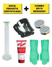 Combo com a Nova Proveta de 100 ml com Certificado RBC 4 Pontos e Kit Benzeno