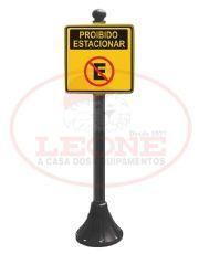 Pedestal Personalizado Preto - Proibido Estacionar